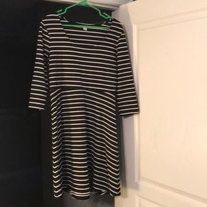 Large Old Navy Black/White stripe dress
